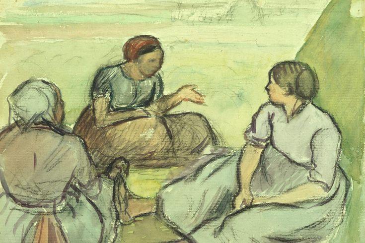 Three Peasant Women by @artpissarro #impressionism