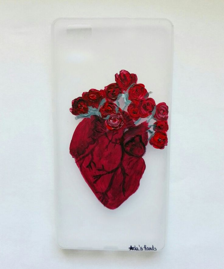 #heart #anatomy #love #redroses  #colours #handmade #painted #phonecase #accessorise
