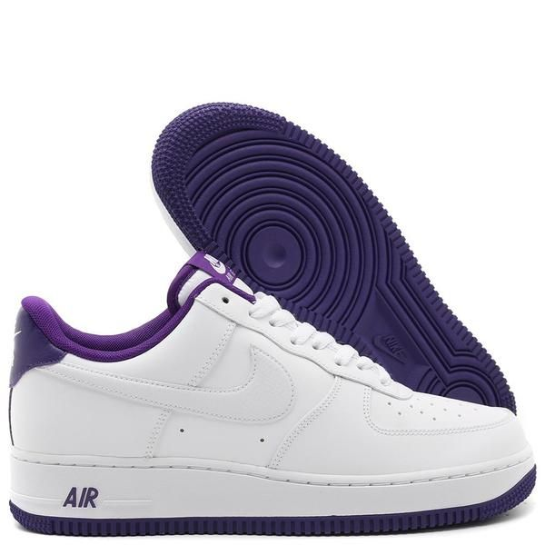 Nike Air Force 1 '07 Sneakers - White/Voltage Purple on Garmentory ...
