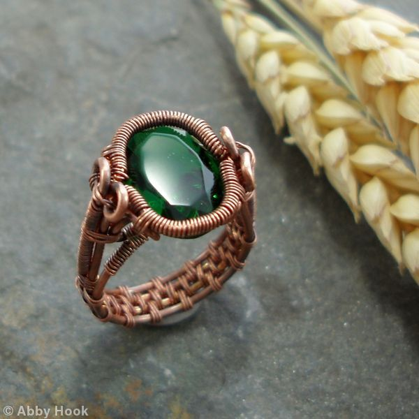 Spiral Bezel Emerald Ring  Abbey Hook Jewelry  60 lbs. British.............