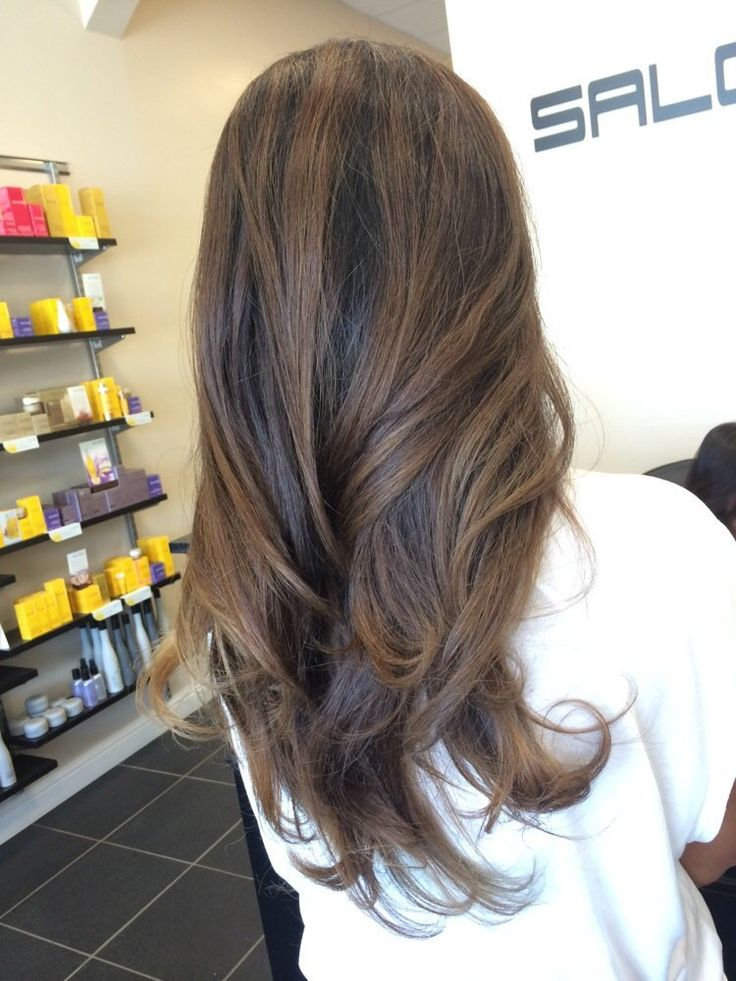 Straight Ombre Hair Back View