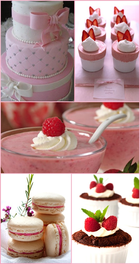 pink party desserts!