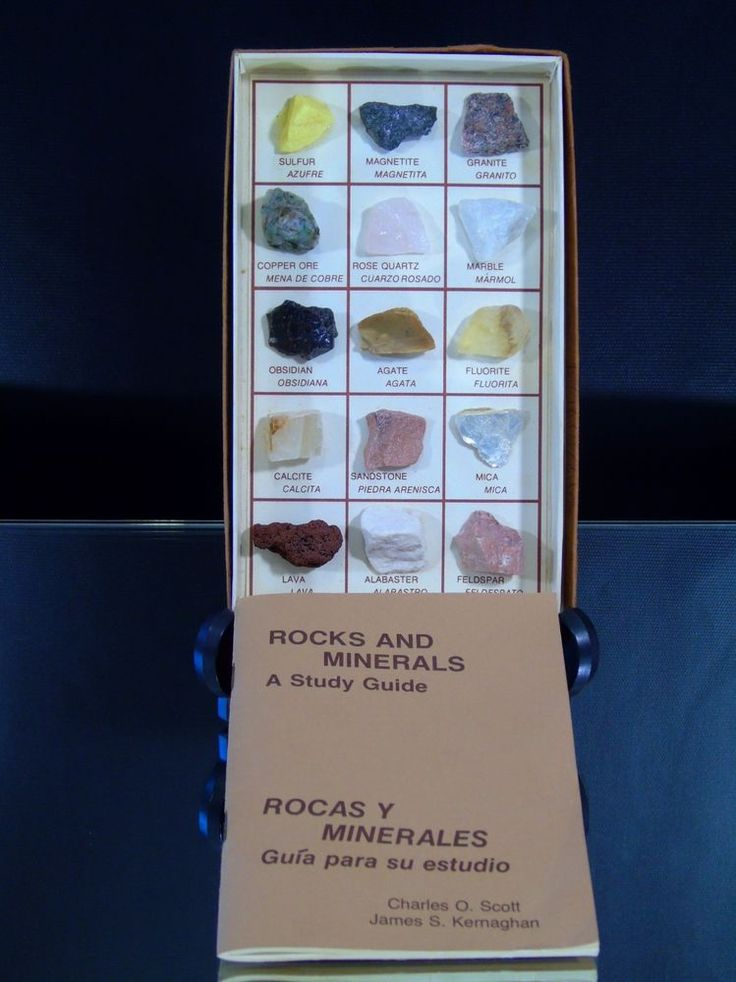 Vintage Boxed Rock Mineral Collection Specimens Geologic Educational Study Guide | Collectibles, Rocks, Fossils & Minerals, Crystals & Mineral Specimens | eBay!