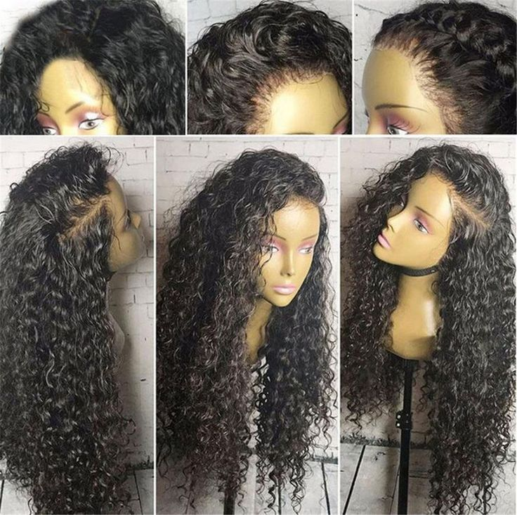 Women Kinkly Curly Black Hair Wig Synthetic Lace Front Wigs Natural Looking Wigs | Health & Beauty, Hair Care & Styling, Hair Extensions & Wigs | eBay!