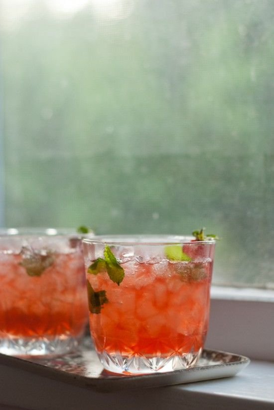 Strawberry-Infused Mint Julep
