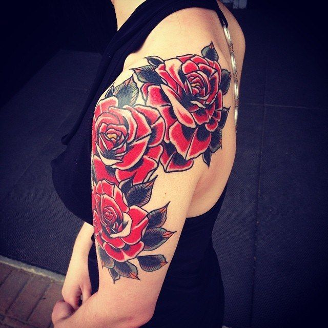 tatouage Roses Old-School