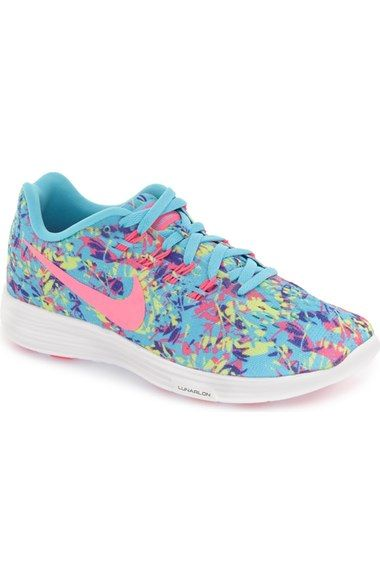 Nike 'LunarTempo 2' Print Running Shoe (Women) available at #Nordstrom