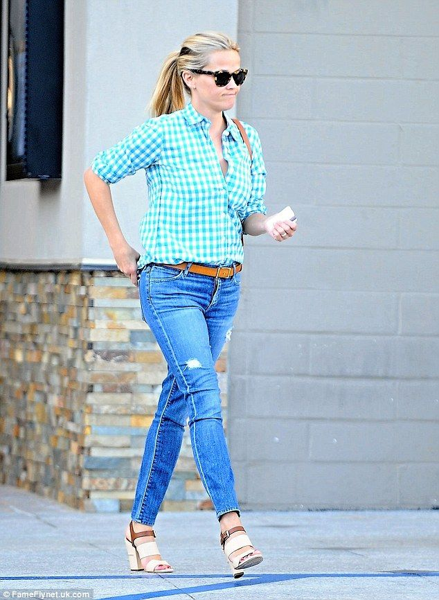 Family gathering: Reese Witherspoon went to meet up with her ex husband Ryan Phillippe and...