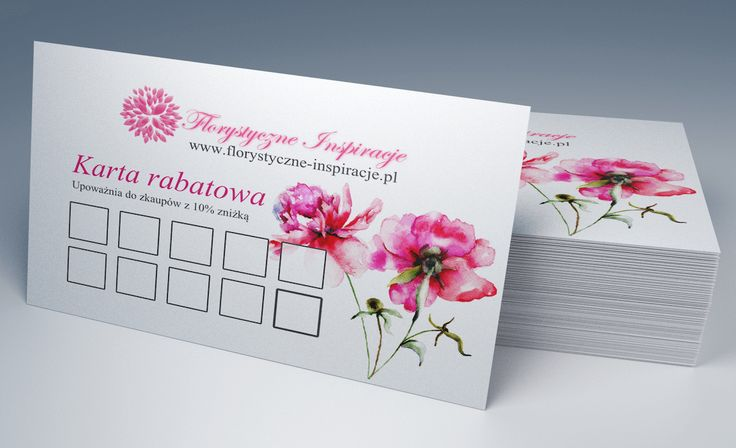 Florystyczne Inspiracje Business Cards back with discount card function