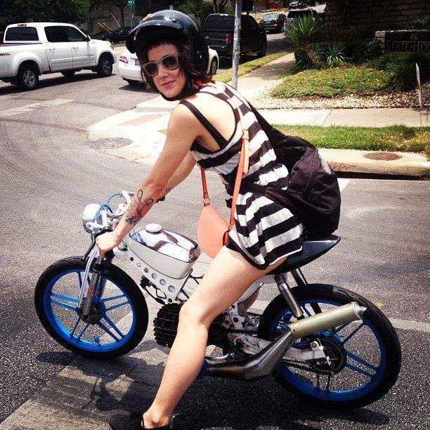 moped girl