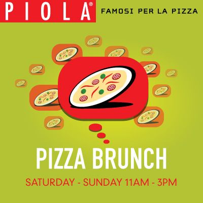 Piola, Pizza brunch! Bottomless pizza and mimosas