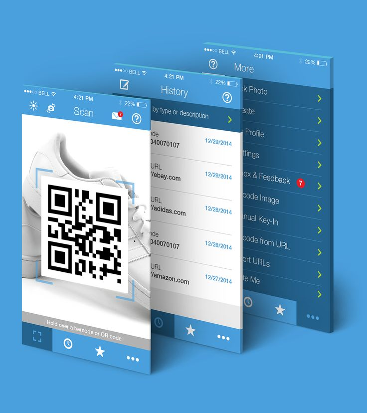 Zapper is an intuitive QR Code and Barcode scanner app with sleek, clean and minimalistic design.