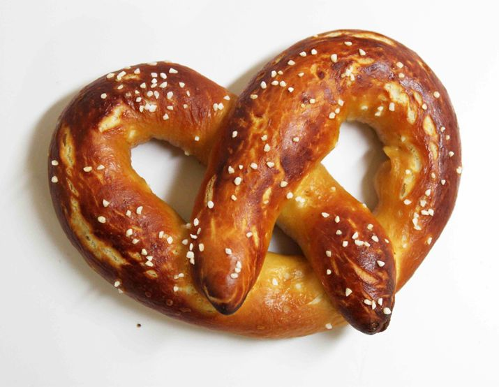 """Although there is such a thing as salt-less pretzels, called """"baldies,"""" I would suggest that they're really not pretzels at all, but rather cruel jokes perpetrated by bitter bakers. If you don't have pretzel salt, coarse sea salt will do."""