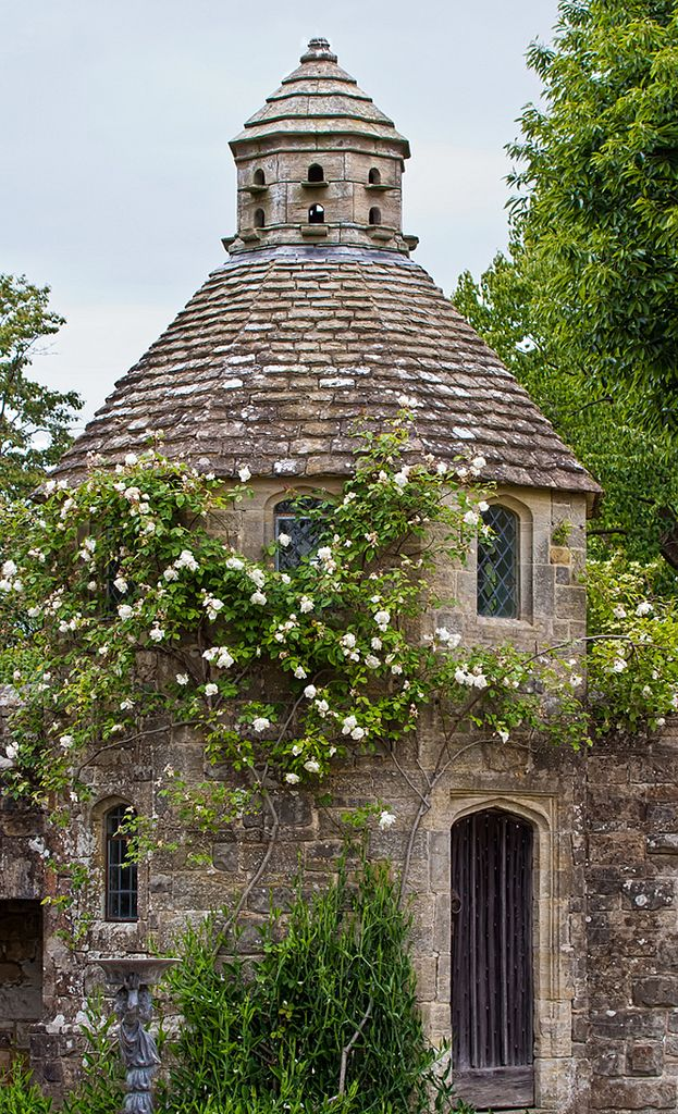 dovecote in nymans gardens, sussex, england   travel destinations in the united kingdom + garden photography #wanderlust