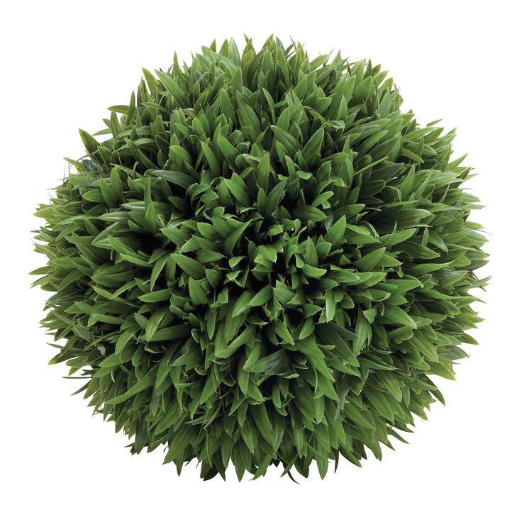 Plastic Grass Ball Topiary