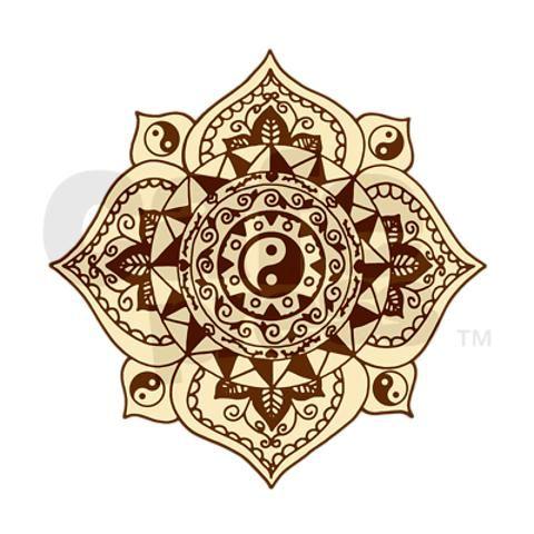 Henna Yin Yang Mandala