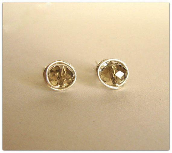 Sterling Silver Stud Earringshandcrafted by ORIGINALsPAINTINGS, €14.00