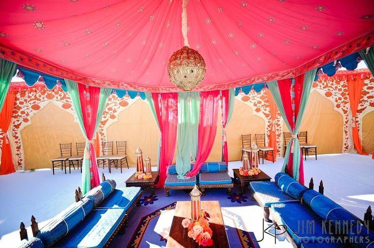 Indian wedding Mehndi or Sangeet! #Old look furniture #Cabana #Pinned by Sumit Kochar http://www.pinterest.com/sumitkochar/