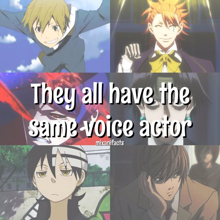 OKAY SEE DAT BOTY. HE IS SHUU TSUKIYAMA. SHE SHARES VOICE ACTOR WITH LIGHT AND DEATH THE KID. I'M DYING