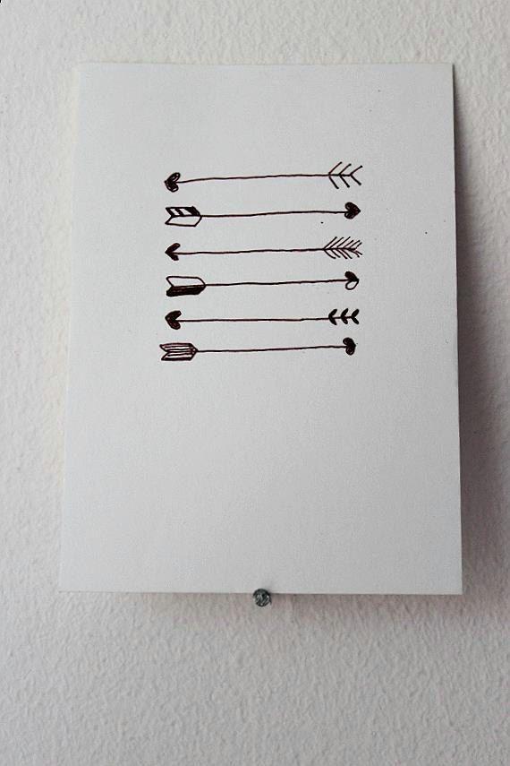 Mini Postcard Heart arrows design. by JubiliqueAndLouise on Etsy