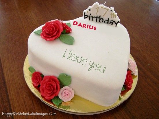 A romantic Heart Shape Birthday Cake with Name and Age for anyone want to show your love with girlfriend, boyfriend, dad or mom. Create and share it now via facebook, twitter, pinterest...