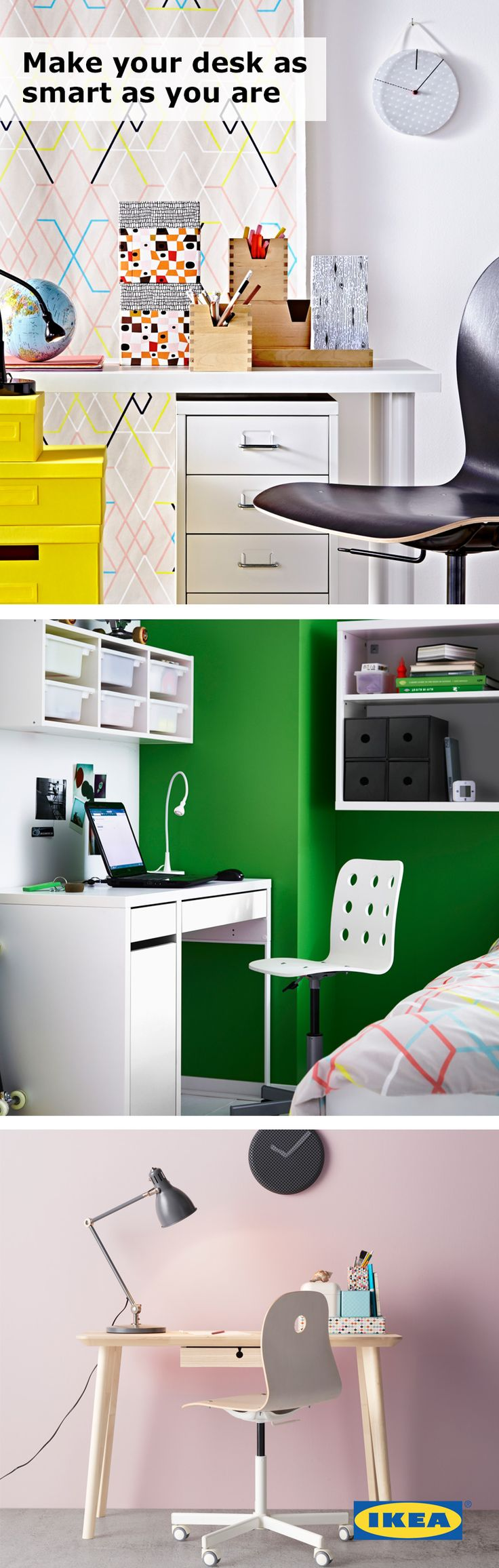And black and white means your home office style is longer lasting - Make Your Desk As Smart As You Are Your College Study Space Should Always Have