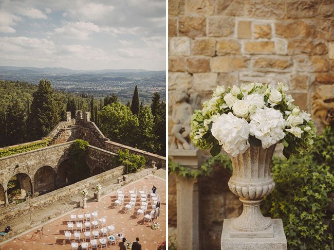 Romantic Florence Italy Wedding in a Castle: Jen + Andy