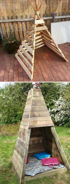 21 Möglichkeiten, Holzpaletten zu verwenden, die Ihre Kinder lieben werden!