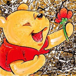 Winnie the Pooh - Broken Flower Pooh- David Willardson - World-Wide-Art.com - #davidwillardson #disney