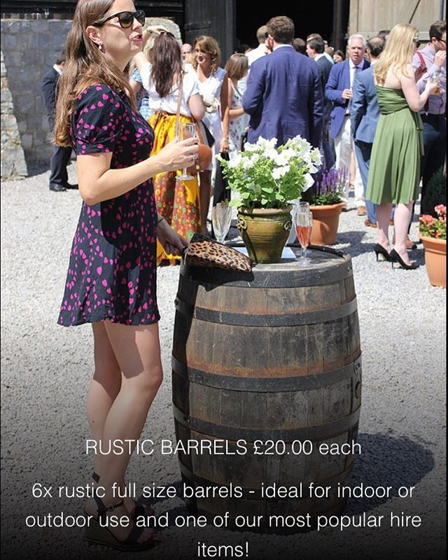 """""""Hire your rustic beer barrels from www.aphroditeeventhire.co.uk this summer! Ideal for all events and one of our most popular products. #barrel #partyplanner #wedding #marlborough #eventplanner #hungerford"""" by @aphrodite_event_hire.  #bride #weddingday #weddingdress #weddingphotography #bridal #weddinginspiration #weddingphotographer #groom #свадьба #instawedding #casamento #engagement #marriage #невеста #weddingphoto #engaged #prewedding #theknot #noiva #bridesmaids #brides #weddinginspo…"""