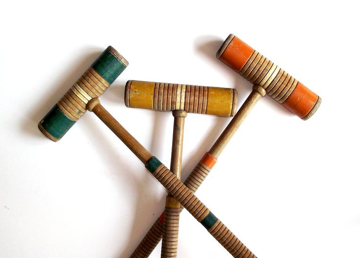 vintage croquet mallet - Google Search