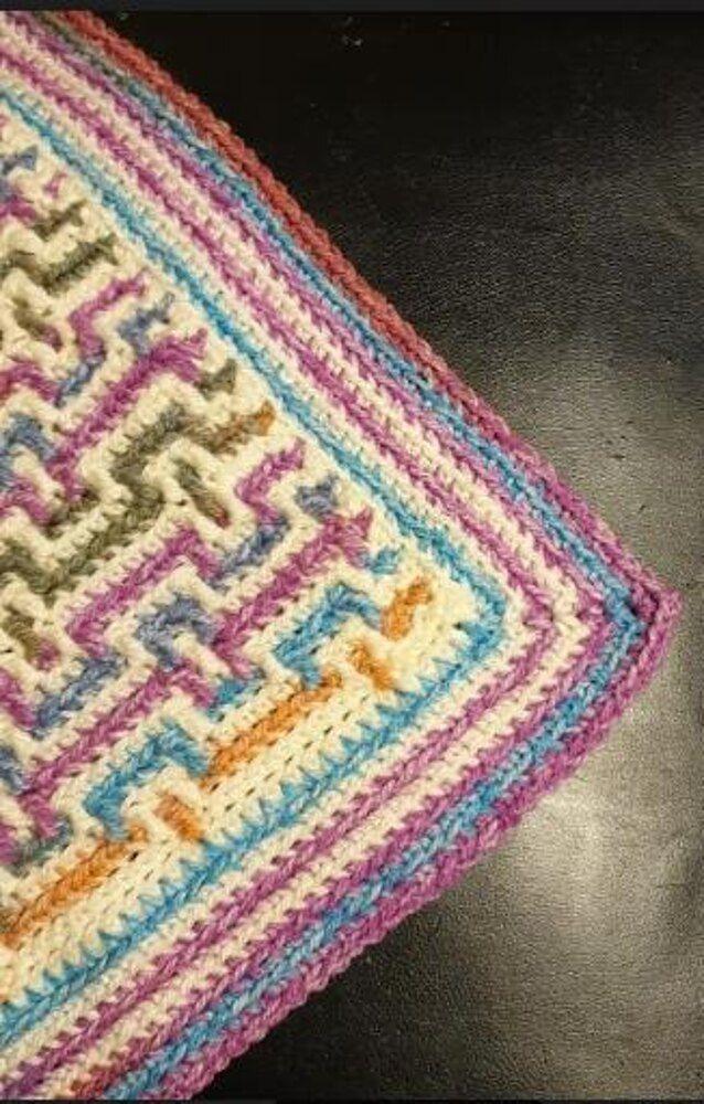 Mosaic Crochet Baby Blanket Uk Crochet Pattern By Fleur Delport In 2020 Baby Blanket Crochet Pattern Crochet Patterns Baby Blanket Pattern