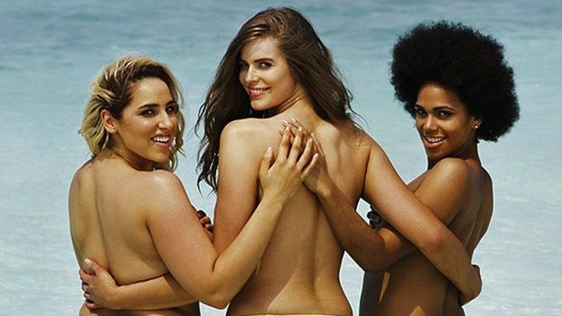 Plus-Size Models Recreate Sports Illustrated's Topless Swimsuit Cover | StyleCaster
