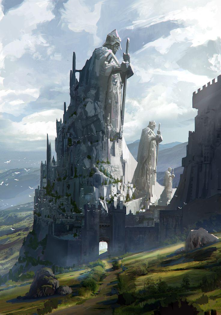 O castelo antigo e suas estátuas colossais continuou de pé através dos séculos sem ser atacada uma única vez, mas pelo visto o status ileso da propriedade está sendo ameaçado e as estátuas precisarão fazer alguma coisa.