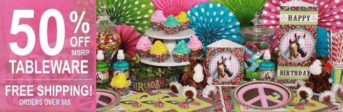 Girl Horse Party Supplies