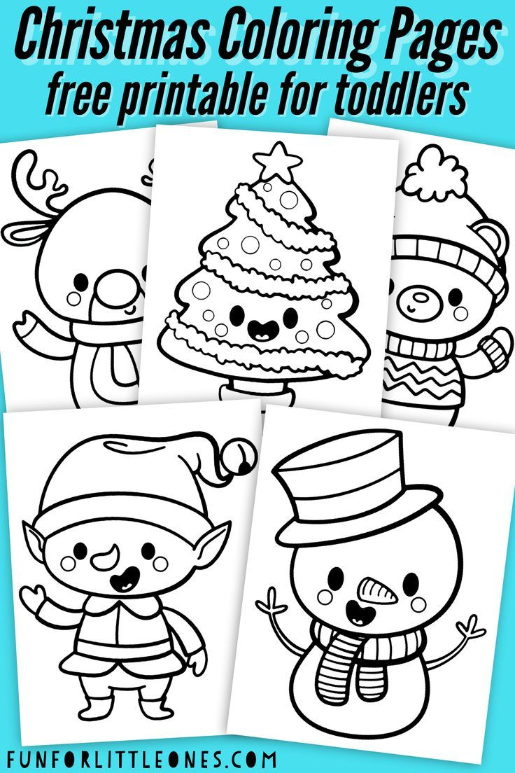 Christmas Coloring Pages for Toddlers (Free Printable)   Kids christmas  coloring pages [ 1104 x 736 Pixel ]