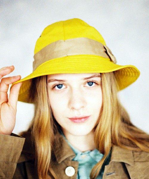 ハチガハナ(ハチガハナ)の【ハチガハナ】 mountain hat (マウンテンハット)(ハット)|イエロー