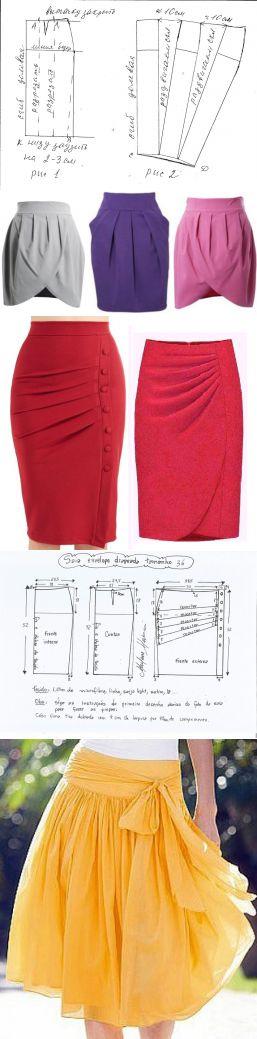 Эффектные юбки с драпировкой — Рукоделие