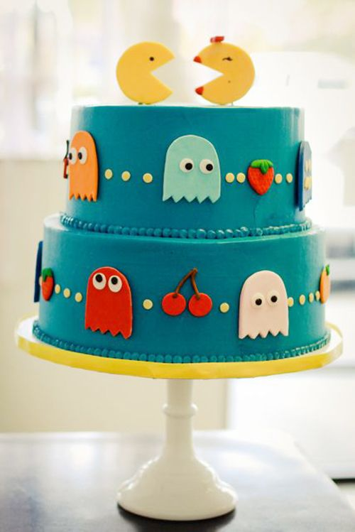 Pac-Man Wedding Cakes