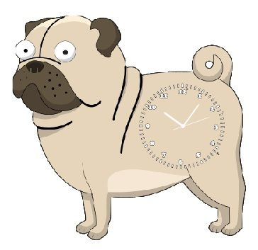 dog wall clock children birth day return gift