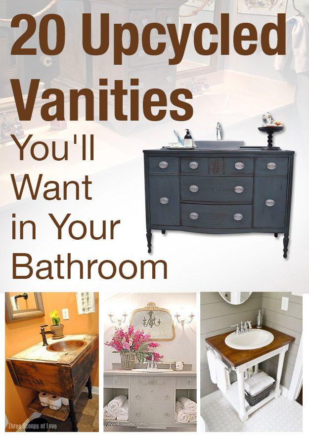Bathroom Vanity Ideas Idea Box By Beneath My Heart Pinterest Vanities Upcycle And Upcycling