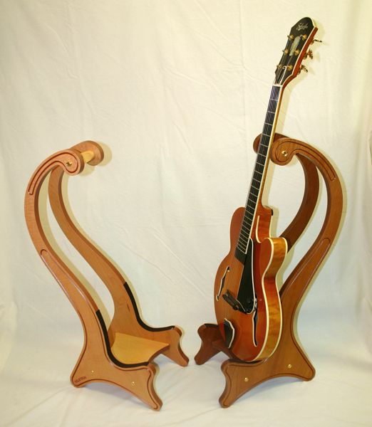 Crafting Wood Guitar Stands