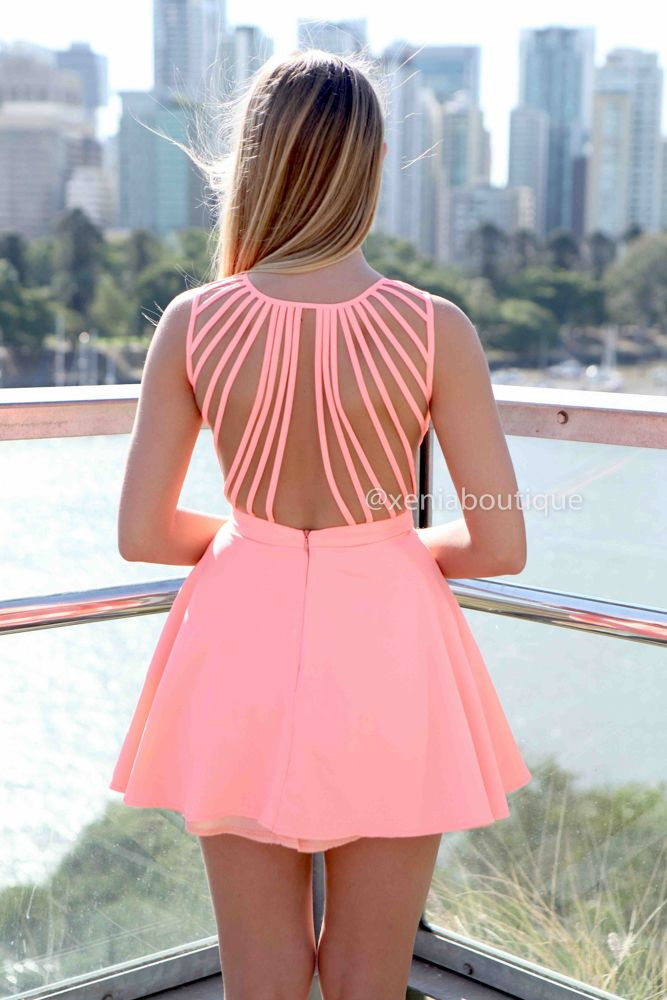 Fashion girls dress - Back out dress tumblr color