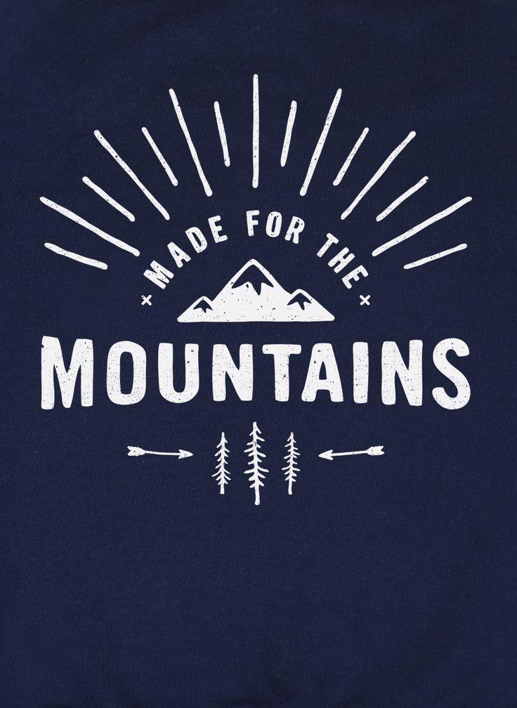 Made for the Mountains print for The Level Collective graphic sweater for men and women