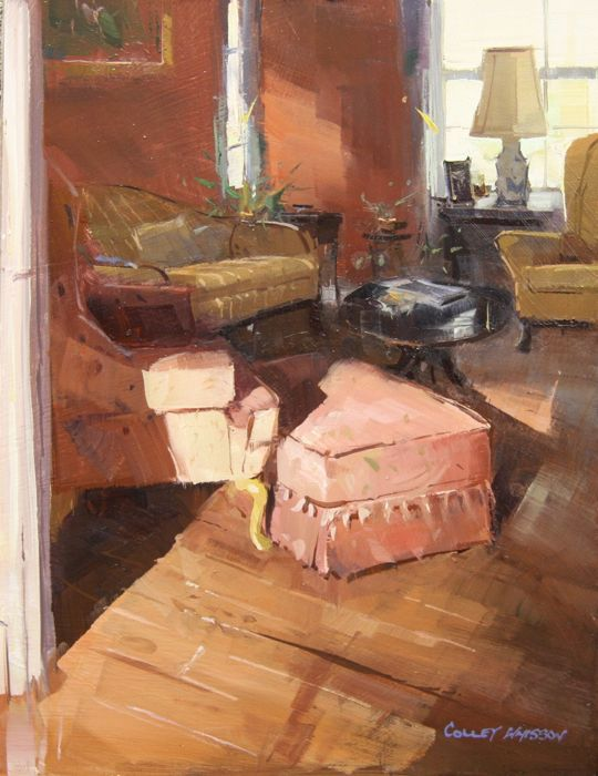 A Sunny Sunday Morn - GA, USA • 12x9, oil, Colley Whisson