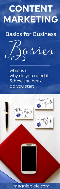Content Marketing can be the most POWERFUL tool you use for your business. Do you know what it is, and more importantly, how to do it? A quick, easy-to-read guide with the basics for passionate business bosses & entrepreneurs. Via www.maggiegiele.com