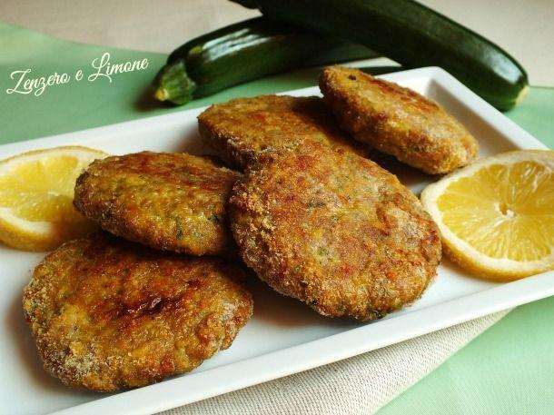 Hamburger di zucchine al profumo di limone