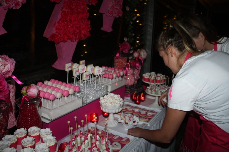 Desserts by Kate Brown from Kiss Me Kate and Styled by Belle's Belinda Ramanauskas at a Pink Lady Event in Melbourne