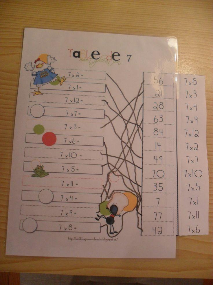 1000 id es sur le th me tables de multiplication sur - Apprendre les tables de multiplication en jouant ...