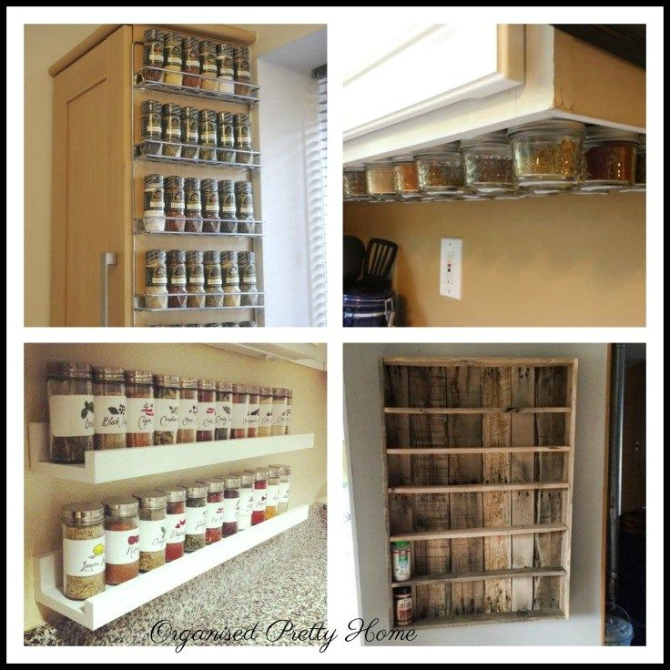 Kitchen Organization. Storage Solutions And Organizing Ideas For Food   How  To Organise Spices.